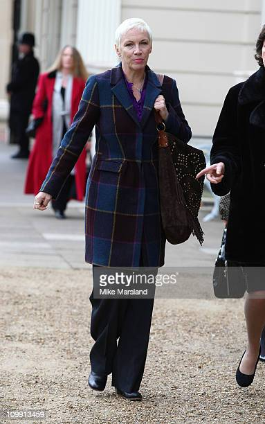 Annie Lennox attends reception for representatives of the Southbank Centre's Women of the World Festival at Clarence House on March 10 2011 in London...