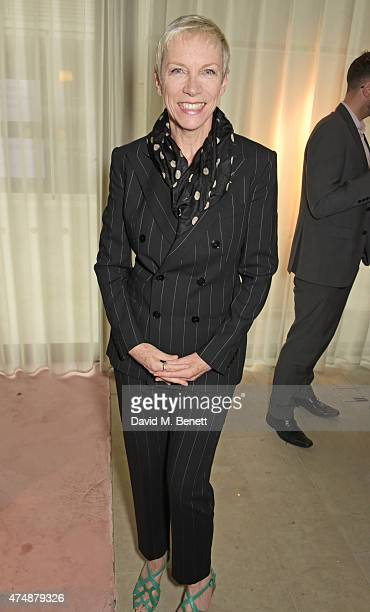 Annie Lennox attends the London premiere of 'The True Cost' at the Curzon Bloomsbury on May 27 2015 in London England