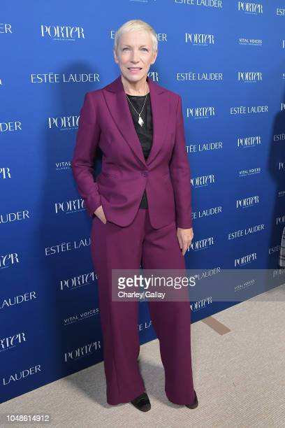 Annie Lennox attends the PORTER Incredible Women Gala 2018 at Ebell of Los Angeles on October 9 2018 in Los Angeles California