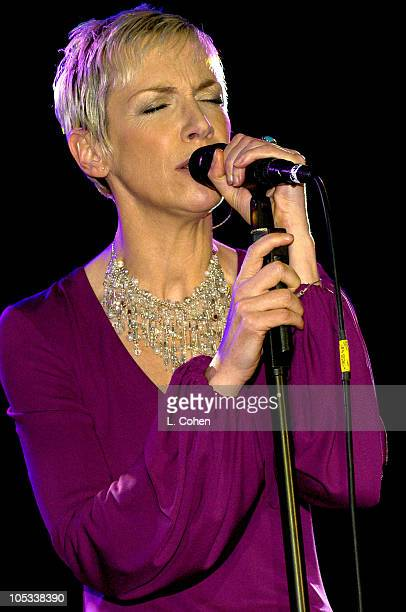 Annie Lennox during 2004 Clive Davis PreGrammy Party Show at Beverly Hills Hotel in Beverly Hills California Canada