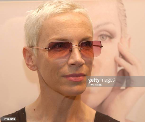 Annie Lennox during Annie Lennox Unveils Her First Photography Art Exhibit BARE The Self Portraits at Spike Gallery in New York City New York United...