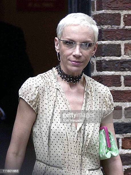 Annie Lennox during Annie Lennox Visits the Late Show with David Letterman June 12 2003 at Ed Sullivan Theatre in New York City New York United States