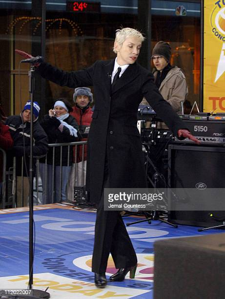 Annie Lennox during Eurythmics Perform on the 2005 NBC's 'The Today Show' Holiday Concert Series at NBC Studios in New York City New York United...