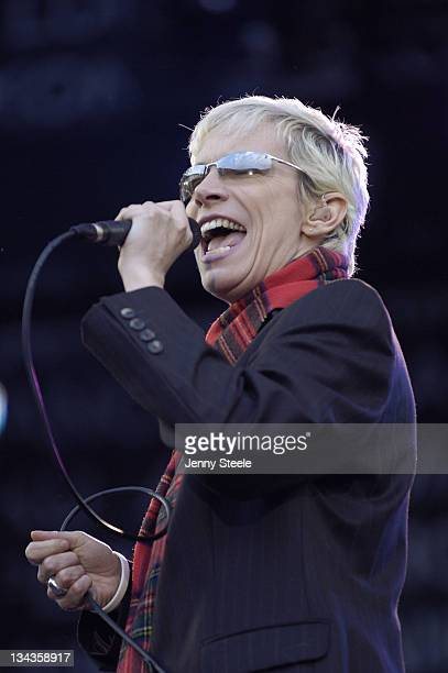 Annie Lennox during LIVE 8 Edinburgh at Murrayfield Stadium in Edinburgh Great Britain