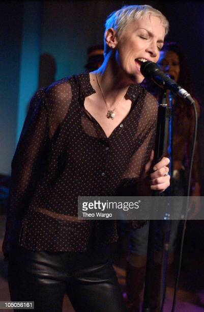 Annie Lennox during Taping of SESSIONS @AOL with J Records Recording Artist ANNIE LENNOX in support of her new album titled 'Bare' at Sony Studios in...