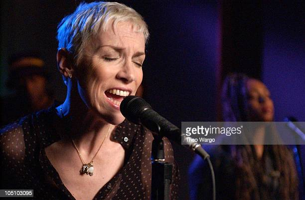 Annie Lennox during Taping of SESSIONS @AOL with J Records Recording Artist ANNIE LENNOX in support of her new album titled Bare at Sony Studios in...