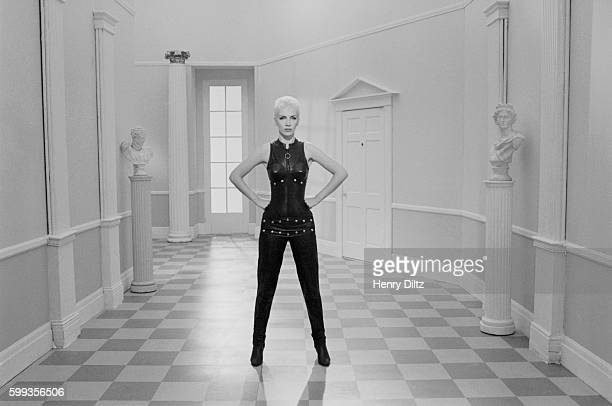 Annie Lennox during the making of the Eurythmics video Missionary Man