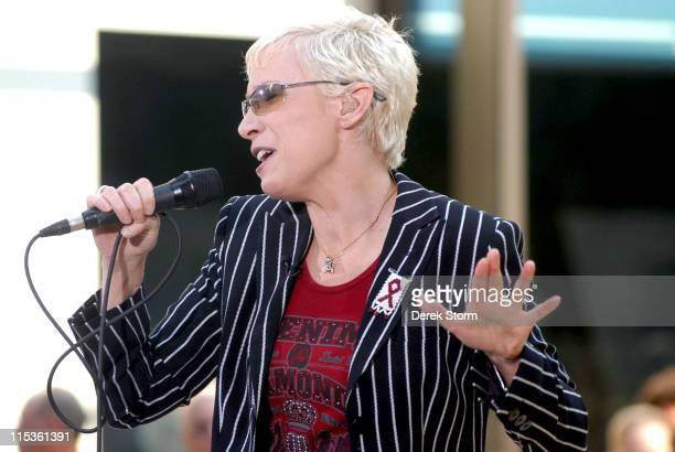 Annie Lennox during The Today Show's 2004 Summer Concert Series Annie Lennox at Rockefeller Plaza in New York City New York United States