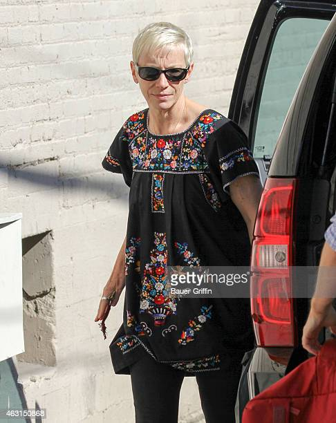 Annie Lennox is seen in Hollywood on February 10 2015 in Los Angeles California
