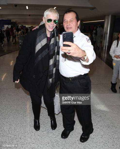 Annie Lennox is seen on January 8 2019 in Los Angeles CA