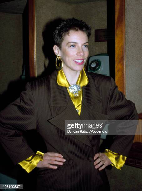 Annie Lennox of Eurythmics attending the Brit Awards at the Grosvenor House Hotel in London, England on February 10, 1986.