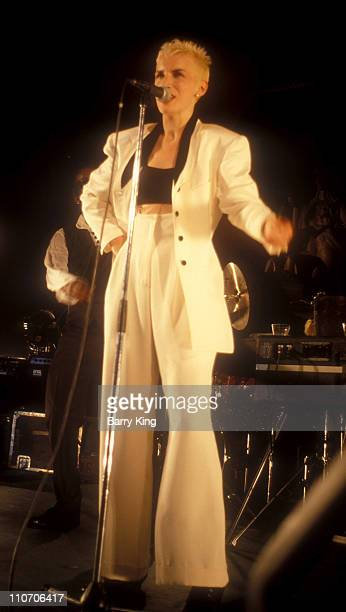 Annie Lennox of Eurythmics during Eurythmics Concert At The Pantages August 28 1989 at The Pantages Theater in Hollywood California United States