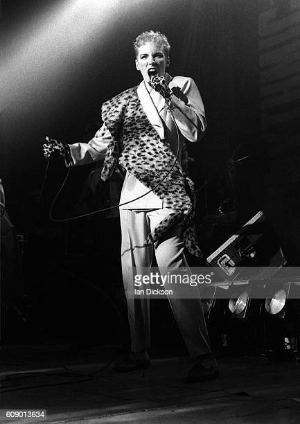 Annie Lennox of Eurythmics performing on stage at Touch Tour Lyceum Theatre London 30 November 1983