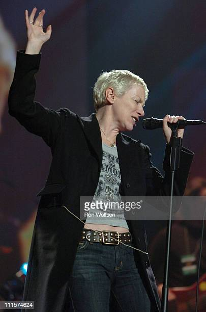 Annie Lennox of The Eurythmics during 33rd Annual American Music Awards Rehearsals Day 4 at Shrine Auditorium in Los Angeles California United States