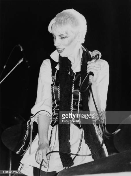 Annie Lennox of The Tourists performs on stage circa 1978