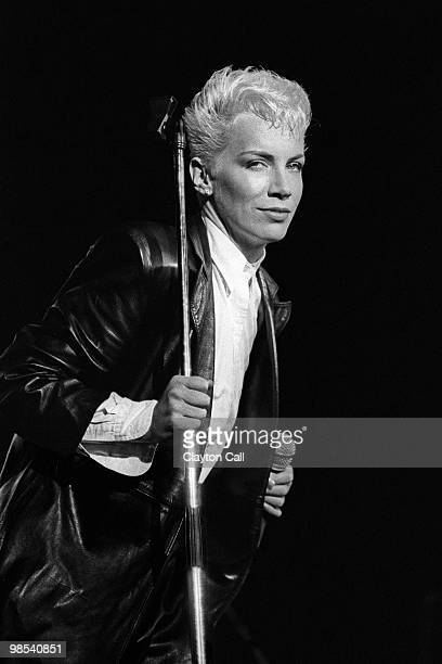 Annie Lennox performing with the Eurythmics at the Greek Theater in Berkeley California on August 2 1986