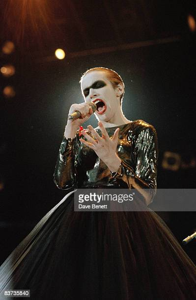 Annie Lennox performs at The Freddie Mercury Tribute Concert for AIDS Awareness at at Wembley Stadium on April 20, 1992 in London, England.