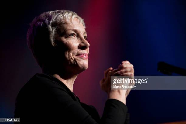 Annie Lennox performs on stage during Equals Live 2012 at Southbank Centre WoW Women of the World Festival on March 9 2012 in London United Kingdom