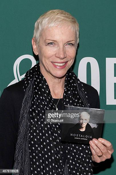 Annie Lennox promotes her CD 'Nostalgia' at Barnes Noble Union Square on October 21 2014 in New York City