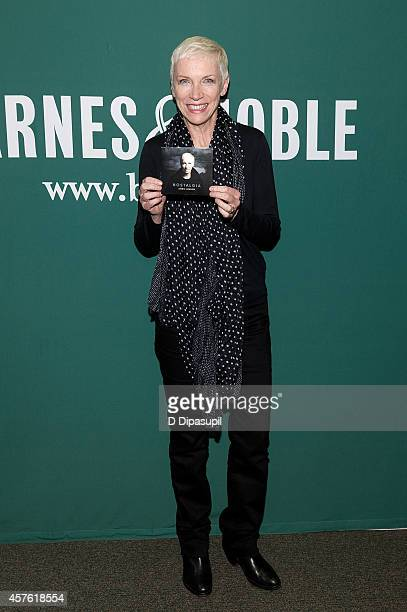 Annie Lennox promotes her CD Nostalgia at Barnes Noble Union Square on October 21 2014 in New York City