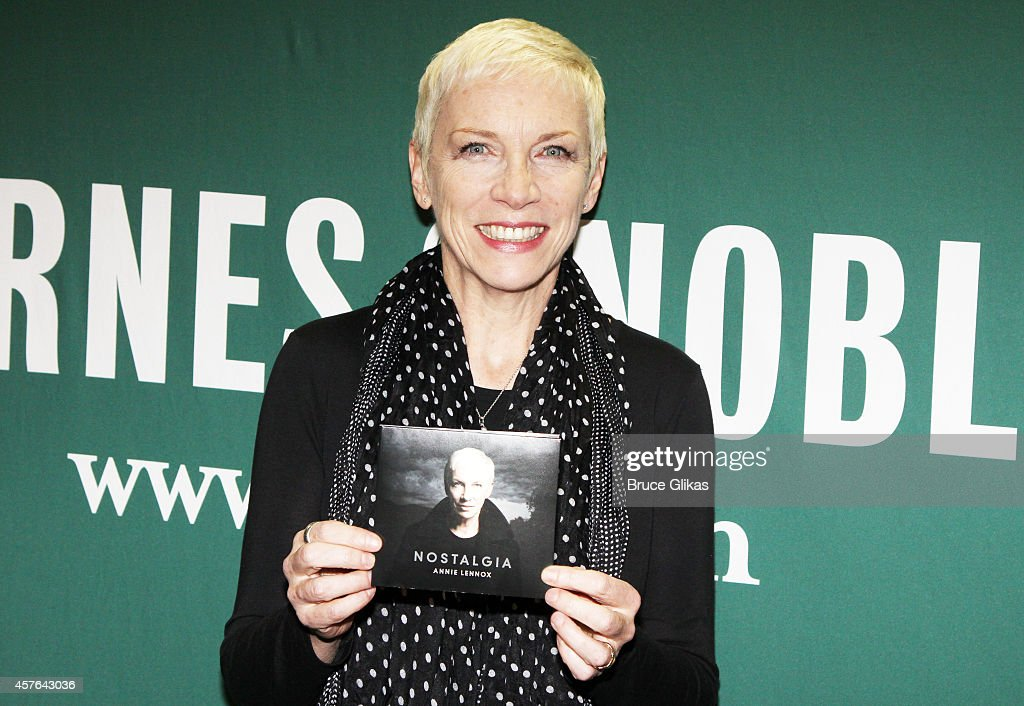 "Annie Lennox Signs Copies Of ""Nostalgia"""