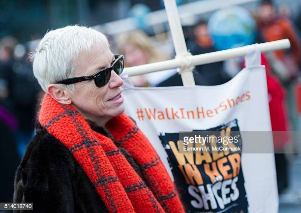Annie Lennox takes Part In 'Walk In Her Shoes' on March 6 2016 in London England