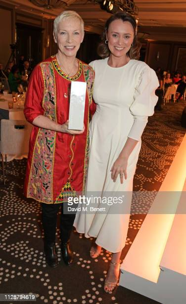 Annie Lennox winner of The Icon Award and Keeley Hawes attend Stylist's inaugural Remarkable Women Awards in partnership with philosophy at Rosewood...