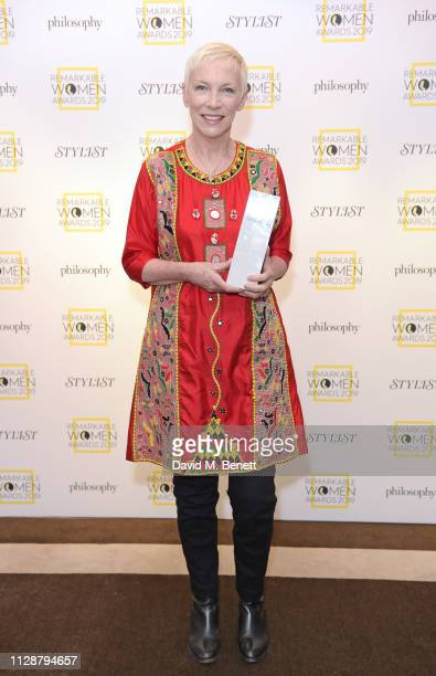 Annie Lennox winner of The Icon Award attends Stylist's inaugural Remarkable Women Awards in partnership with philosophy at Rosewood London on March...