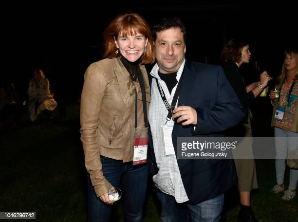 Annie Lukowski and guest attend the Filmmaker Party at Mulford Farm during Hamptons International Film Festival 2018 Day Two on October 5 2018 in...