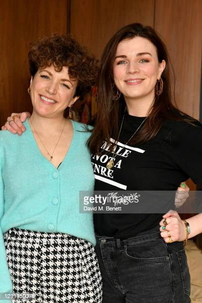 Annie Mac and Aisling Bea attend an International Women's Day brunch hosted by Annie Mac at the Penthouse at The London EDITION on March 08 2020 in...