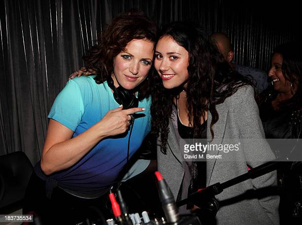 Annie Mac and Eliza Doolittle attend the launch of The Vinyl Collection curated by Annie Mac and the AMP 2013 album at W London Leicester Square on...