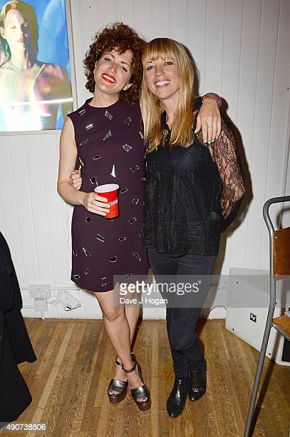 Annie Mac and Sara Cox attend the Anne Mac Presents 2015 album launch party at Lights Of Soho on September 30 2015 in London England