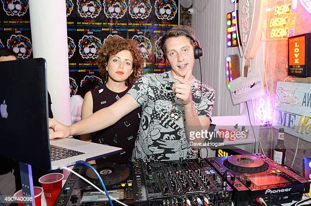 Annie Mac and Toddla T attend the Anne Mac Presents 2015 album launch party at Lights Of Soho on September 30 2015 in London England