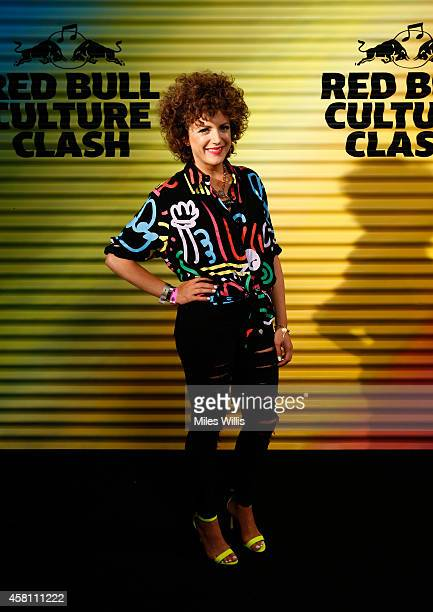 Annie Mac arrives prior to Red Bull Culture Clash at Earls Court on October 30 2014 in London England