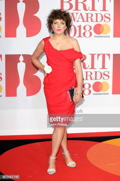 AWARDS 2018*** Annie Mac attends The BRIT Awards 2018 held at The O2 Arena on February 21 2018 in London England
