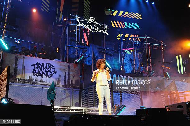 Annie Mac hosts Red Bull Culture Clash at the O2 Arena on June 17 2016 in London England
