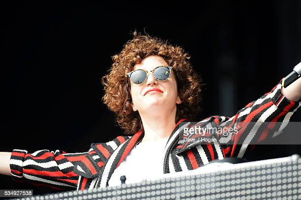 Annie Mac on stage during day 1 of BBC Radio 1's Big Weekend at Powderham Castle on May 28 2016 in Exeter England