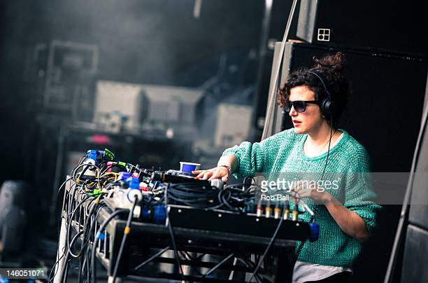 Annie Mac performs at RockNess festival at Village Of Dores on June 9 2012 in Inverness Scotland