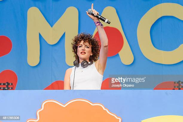 Annie Mac performs on Day 2 of Lovebox festival taking place at Victoria park on July 18 2015 in London United Kingdom