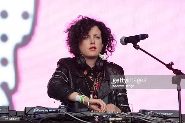 Annie Mac performs on stage during Park Life Festival at Platt Fields Park on June 10 2012 in Manchester United Kingdom