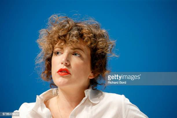Annie Mac speaks onstage during the Youtube session at the Cannes Lions Festival 2018 on June 19 2018 in Cannes France
