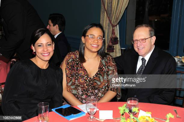 Annie Martinez Ambar Paredes and Dick Zorn attends the Fountain House Fall Fete at The New York Racquet and Tennis Club on October 17 2018 in New...