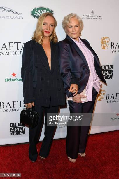 Annie Maude Starke and Glenn Close attend The BAFTA Los Angeles Tea Party at Four Seasons Hotel Los Angeles at Beverly Hills on January 5 2019 in Los...