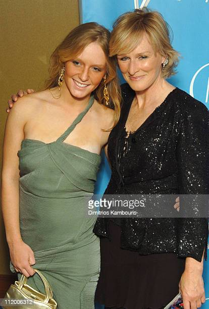 Annie Maude Starke and Glenn Close during Entertainment Industry Foundation's Colon Cancer Benefit on the QM2 Red Carpet at Queen Mary 2 in New York...