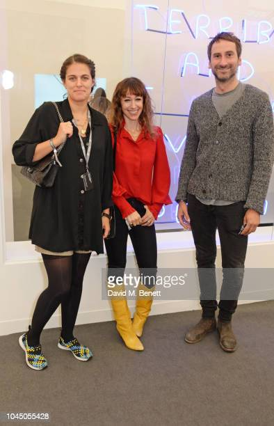 Annie Morris and guests attend a VIP Preview of the Frieze Art Fair in Regents Park on October 3 2018 in London England