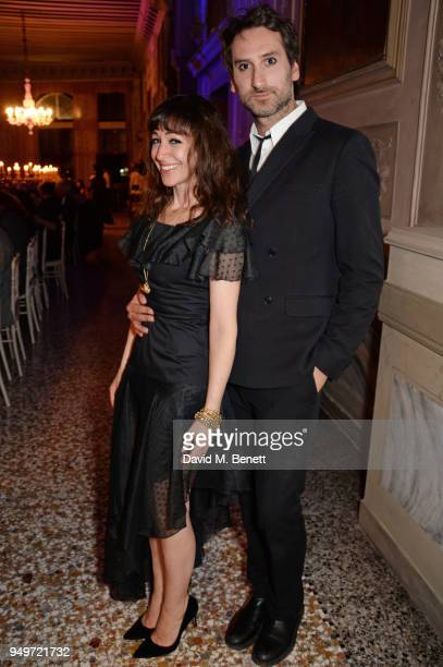 Annie Morris and Idris Khan attend a party to celebrate Nefer Suvio's birthday hosted by The Count and Countess Francesco Chiara Dona Dalle Rose at...