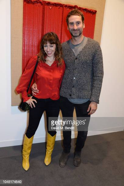 Annie Morris and Idris Khan attend a VIP Preview of the Frieze Art Fair in Regents Park on October 3 2018 in London England