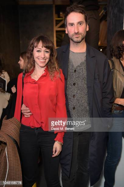 Annie Morris and Idris Khan attend the 21st Century Women VIP preview at Unit London Mayfair London on October 3 2018 in London England