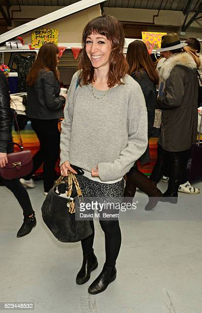 Annie Morris attends the #SheInspiresMe Car Boot Sale presented by The Store and Brewer Street Car Park in aid of Women for Women International at...