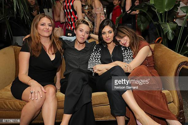 Annie Mumolo President of STX Entertainment Sophie Watts Mila Kunis and Kathryn Hahn attend the after party for the Bad Moms premiere at Metrograph...